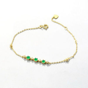 Silver Hexagon Topaz/Garnet/Crystal Bracelet